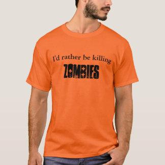 Apocalipse do zombi t-shirt