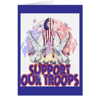 """""""Apoie cartão das nossas tropas"""""""