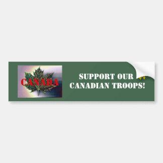 Apoie nossas tropas CANADENSES! - Folha de bordo Adesivo Para Carro