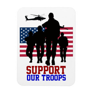 Apoie nosso ímã das tropas