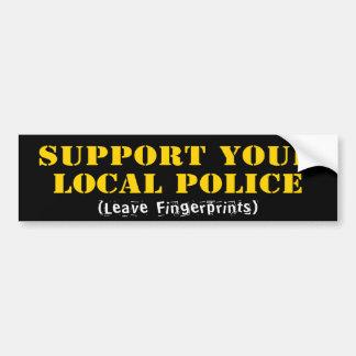Apoie sua polícia local adesivo para carro