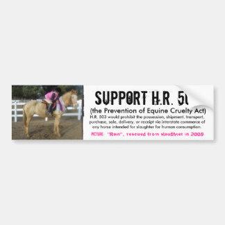 Apoio H.R. 503 - prevenção da crueldade aos cavalo Adesivo Para Carro