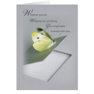 Apoio infantil da morte do caderno da borboleta cartao