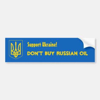 Apoio Ucrânia! Não compre o óleo do russo Adesivo