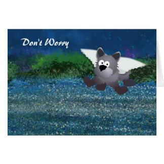 Apoio universal do cão do anjo cartão