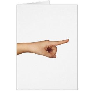Apontando um dedo cartão comemorativo