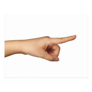 Apontando um dedo cartão postal