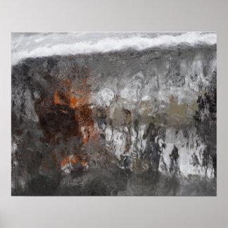 Após a arte fotográfica do abstrato da tempestade pôster