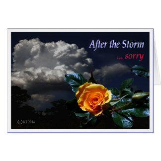 Após a tempestade cartões
