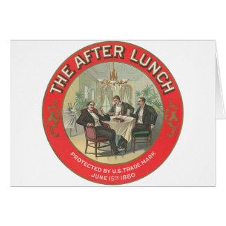Após o almoço cartão comemorativo