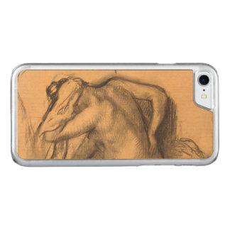 Após o cabelo de secagem Edgar Degas da mulher do Capa iPhone 8/ 7 Carved