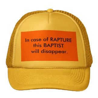 Após o chapéu do baptista do êxtase boné