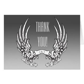 Após Wedding cartões de agradecimentos - asas do