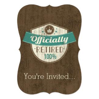 Aposentado oficialmente, aposentadoria do vintage convite 12.7 x 17.78cm