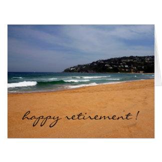 aposentadoria da opinião da praia grande cartão comemorativo grande