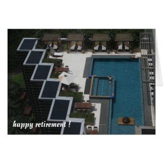 aposentadoria da piscina cartão comemorativo