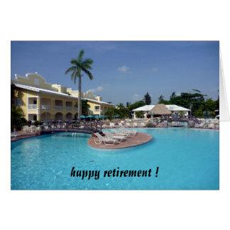 aposentadoria da piscina cartões