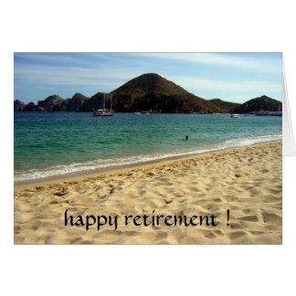 aposentadoria da praia cartão comemorativo