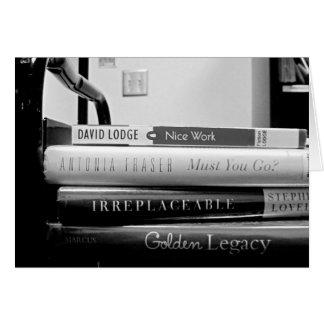 Aposentadoria do bibliotecário do caminhão de cartão comemorativo