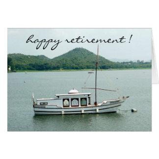 aposentadoria do boatin cartão comemorativo