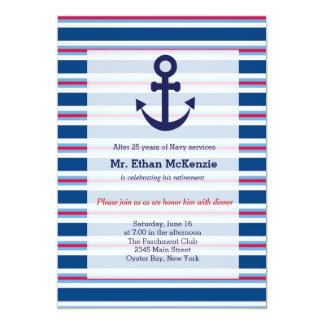 Aposentadoria do marinho convites personalizado