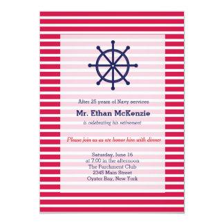 Aposentadoria do marinho convite personalizado