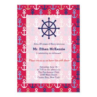 Aposentadoria do marinho convite personalizados