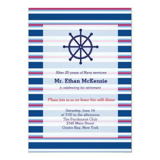Aposentadoria do marinho convite 12.7 x 17.78cm