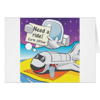 Aposentadoria do vaivém espacial cartão comemorativo