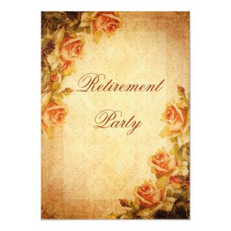 Aposentadoria dos rosas do pêssego do chique do convite personalizado