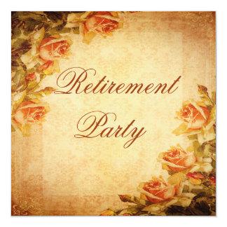 Aposentadoria dos rosas do pêssego do chique do convites personalizado