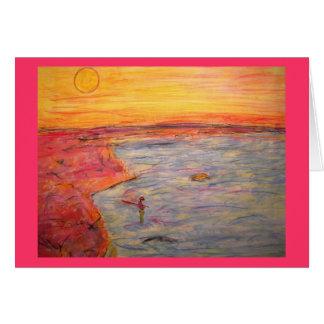 aposentadoria e pesca felizes cartão comemorativo