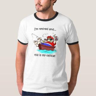 Aposentadoria engraçada da pesca camisetas