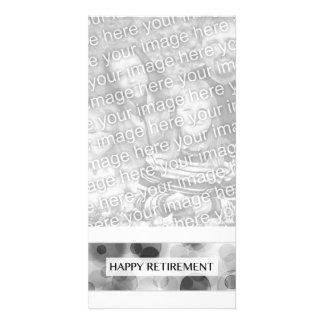 aposentadoria feliz (bokeh) cartao com foto personalizado