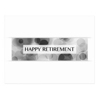 aposentadoria feliz (bokeh) cartão postal