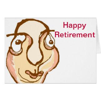 Aposentadoria feliz cartão comemorativo
