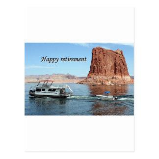 Aposentadoria feliz Casa flutuante de Powell do l Cartão Postal
