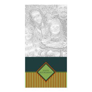 aposentadoria feliz (diamondStriped) Cartão Com Foto