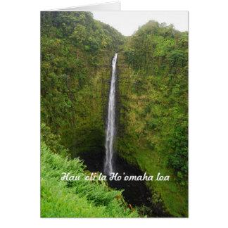 Aposentadoria feliz, Hawaiian, quedas de Akaka, Cartão Comemorativo