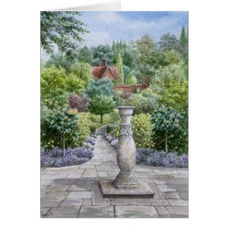 Aposentadoria feliz - jardim inglês do país cartão comemorativo