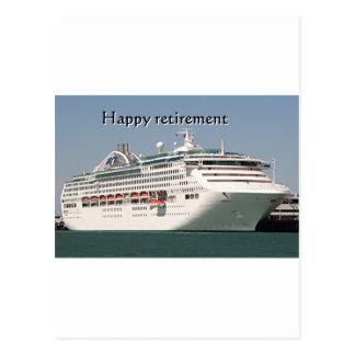Aposentadoria feliz navio de cruzeiros 2 cartões postais