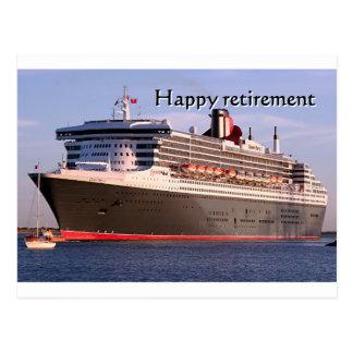 Aposentadoria feliz: navio de cruzeiros cartão postal