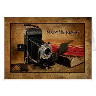 Aposentadoria feliz para o fotógrafo cartão comemorativo