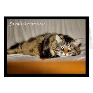Aposentadoria feliz que deixa o gato do sono do tr cartao