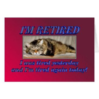 Aposentadoria feliz que deixa o gato do sono do tr cartoes