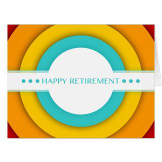 aposentadoria feliz retro cartão comemorativo grande