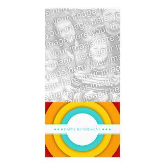 aposentadoria feliz retro cartão com fotos personalizado