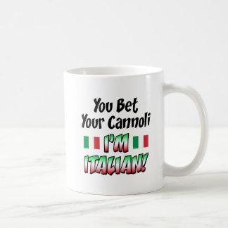 Aposte seu Cannoli que eu sou italiano Caneca De Café
