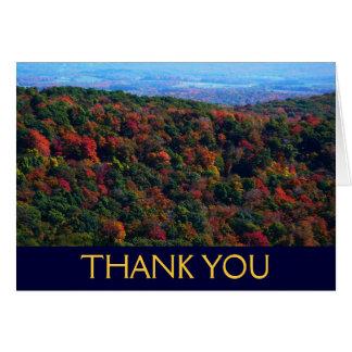 Appalachains em cartões de agradecimentos da queda