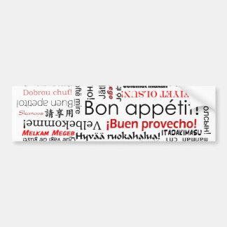 Appetit do Bon na tipografia diferente de muitas l Adesivo Para Carro